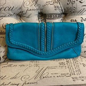 Urban Expressions Turquoise Clutch